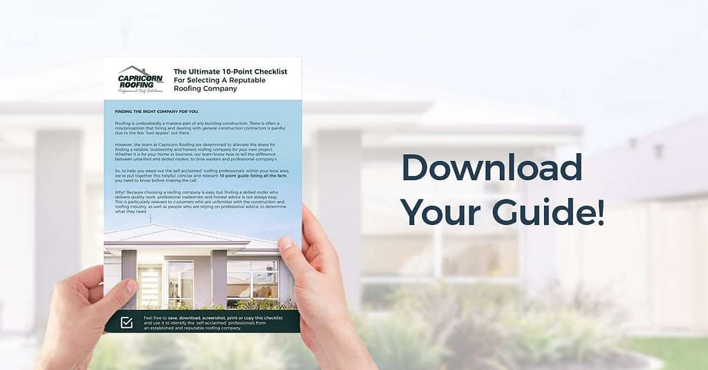 [FREE] The Ultimate 10-Point Checklist For Selecting A Reputable Roofing Company